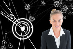 Businesswoman holding tablet Stock Image
