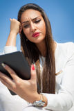 Businesswoman holding tablet computer Stock Photography