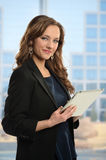 Businesswoman Holding Tablet Stock Images
