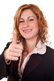 Businesswoman holding thumb up Royalty Free Stock Photo