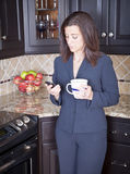 Businesswoman at home Stock Photography