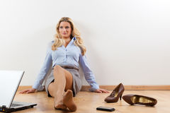 Businesswoman at home Stock Image