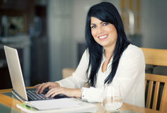 Businesswoman At Home Office Royalty Free Stock Photo