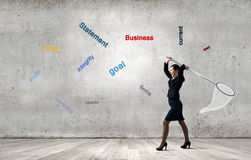 Businesswoman with hoop Royalty Free Stock Photos
