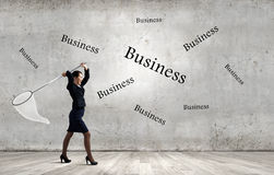Businesswoman with hoop Royalty Free Stock Photo