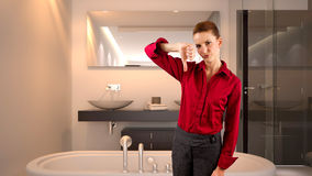 Businesswoman in a Hotel Stock Photo