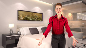 Businesswoman in a Hotel Royalty Free Stock Photo