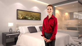 Businesswoman in a Hotel Stock Photography