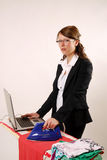 Businesswoman and housewife Stock Images