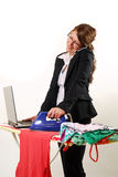 Businesswoman and housewife Stock Photo