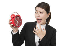 Businesswoman in a hurry Stock Photography