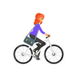 Businesswoman hurrying to the job Royalty Free Stock Photos