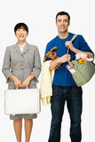 Businesswoman and husband Stock Image