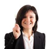 Businesswoman idea Royalty Free Stock Photo