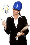 Businesswoman with a idea. Royalty Free Stock Images