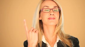 Businesswoman with an idea stock footage