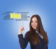 Businesswoman idea concept Stock Photos