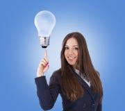 Businesswoman idea concept Stock Images