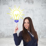 Businesswoman idea concept Royalty Free Stock Photo