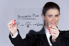 Businesswoman with ideas for success Royalty Free Stock Photos