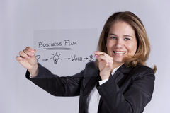 Businesswoman with ideas for success Royalty Free Stock Images