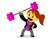 Businesswoman. Illustration of businesswoman cartoon character with her activity Stock Photography