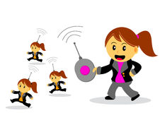 Businesswoman. Illustration of businesswoman cartoon character with her activity Royalty Free Stock Photos