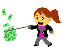 Businesswoman. Illustration  graphic clip art of cartoon character businesswoman in activity Royalty Free Stock Image