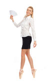 Businesswoman in the image of a dancer Stock Images