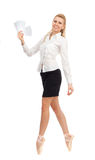 Businesswoman in the image of a dancer Royalty Free Stock Photo