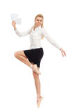 Businesswoman in the image of a dancer Stock Photos