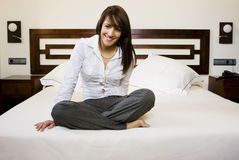 Businesswoman In Bed Royalty Free Stock Images