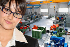 Businesswoman In Industry Stock Image