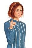 Businesswoman indicate to you Stock Photos