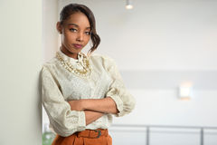 Businesswoman inside office Stock Photography