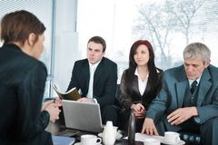 Businesswoman in an interview Royalty Free Stock Photography