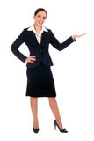 Businesswoman introducing something Royalty Free Stock Image