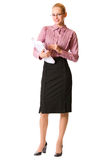Businesswoman, isolated Stock Photography