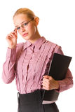 Businesswoman, isolated Stock Photo