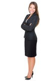 Businesswoman Isolated Full Length On White Royalty Free Stock Photography