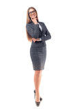 Businesswoman isolated Royalty Free Stock Photo