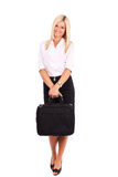 Businesswoman isolated on white Stock Photography