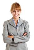 Businesswoman isolated on white Stock Photos