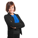 Businesswoman isolated on white royalty free stock photos