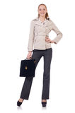 Businesswoman isolated Royalty Free Stock Photography