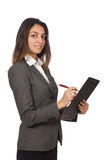Businesswoman isolated Royalty Free Stock Image
