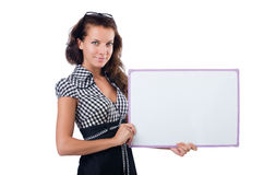 Businesswoman isolated Stock Images
