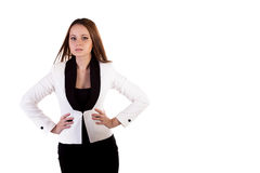 Businesswoman isolated on white background Royalty Free Stock Photo