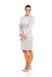 Businesswoman isolated white Royalty Free Stock Photos
