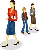 Businesswoman Isometric Stock Photography